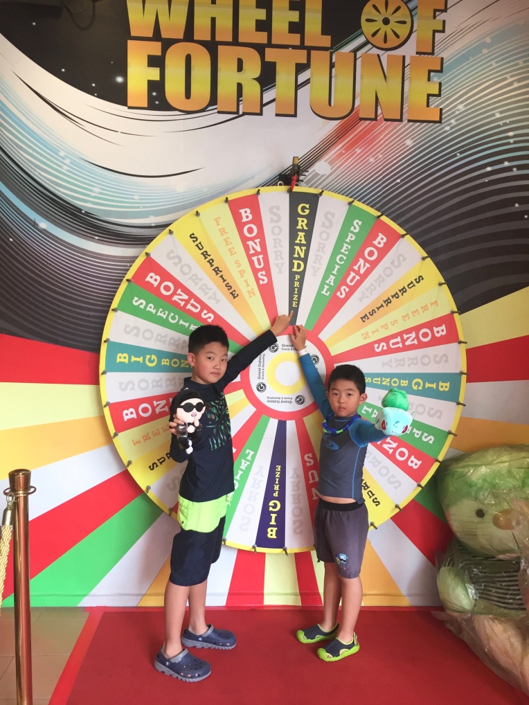 When the wheel stopped on the Grand Prize: unbridled joy - though the prize itself was utter crap.