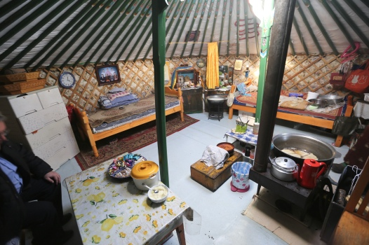 Their actual living space - reminded me a bit of furnishings in Korean countryside homes.