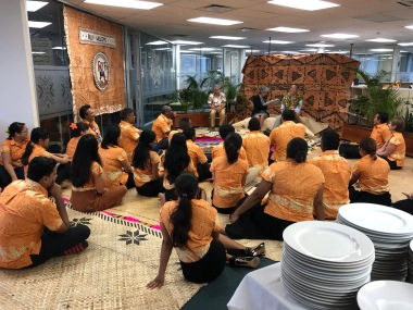The new RD'S first visit to the Suva office as RD, the staff welcomed him ...