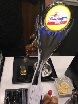 Now offering San Miguel on tap.